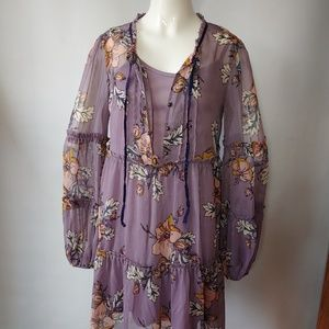 Adorable Layered Boho Dress Size Small